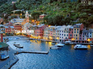 Seafront Portofino, Air Cond., Wifi 24/7, Amazing Position and View. Piazzetta.