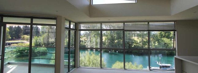 Beautiful river views from the living area