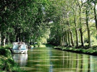Havre de paix canal sur le canal du midi panorama magnifique.30mn de carcassonne, Labastide-d'Anjou
