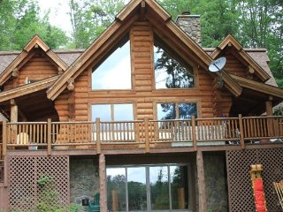 Waterfront Log Home Near Lake Placid, Saranac Lake
