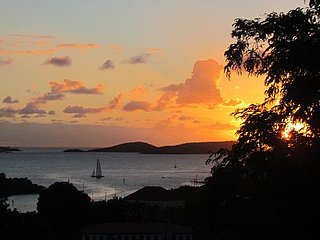 Romantic, Private, Quiet, Walk to Town, Lovely Views from the Breezy Verandah, Cruz Bay