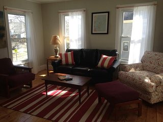 Bright & inviting dog-friendly condo w/ deck, gas grill, & wood stove!