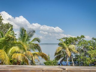 Water-front home with ocean views, a fishing dock & more!
