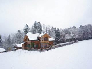 Helles, grosses, neues Holzhaus, Panoramablick, Skigebiet und See 5 Minuten., Altaussee
