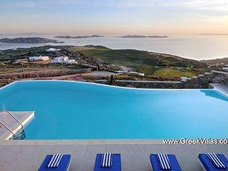 Mykonos Gv - Villa Entine  a gracious pool villa that enjoys superb seaviews  7