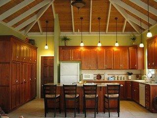 Main house kitchen island