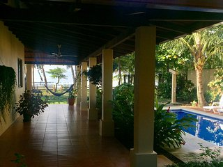 Lots of covered patio area for relaxation! Every patio area has views of the beach!