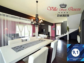 Villa Snow Queen Zagreb  4*  200m2 with jacuzzy,free park and wi fi