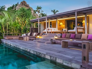 St Barts Luxury Paradisal Villa with Pool and Sparkling Ocean Views