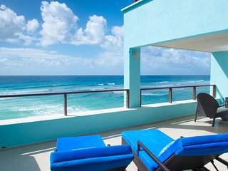 Walls of Glass & Sea View Hot Tub – Intimate Barbados Jr Penthouse, St. Lawrence Gap
