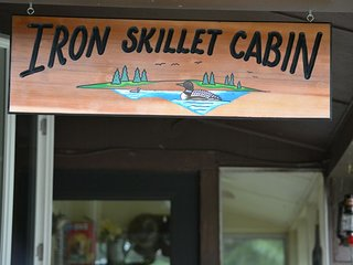 UP NORTH NEAR PICTURED ROCKS  THE IRON SKILLET CABIN ON THE ALL SPORT LAKE !