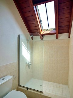 en-suite bathroom in bedroom 2 with a skylight