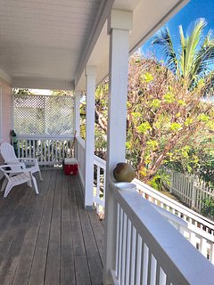 Porch w/ privacy and beautiful foliage and Atlantic Ocean views