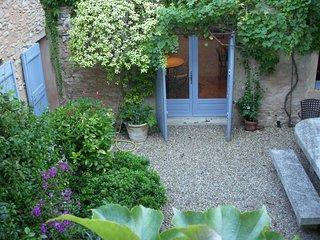 Facing garden room and Jasmine on trellis