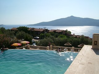 Kalkan Villa on Patara Prince Resort, Kalkan, Turkey overlooking the sea.