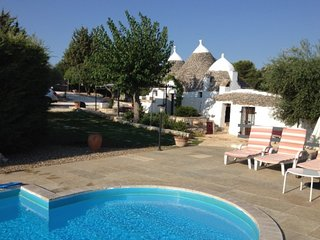 Traditional trullo with private pool in stunning countryside area