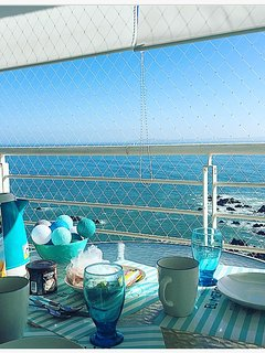 You can have breakfast or read a nice book with this amazing view.