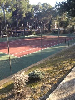 Tennis courts, 100m from the house