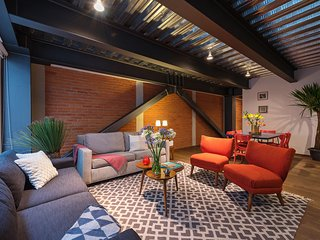Industrial chic loft for couples, families