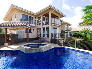 Orchid House, Panoramic Ocean views, AC, private warm pool, walk tobeaches., Poipu