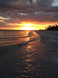 Sunset from the private West Gulf Drive beachfront.