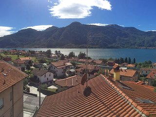 House above Como's Lake with parking place, Mandello del Lario