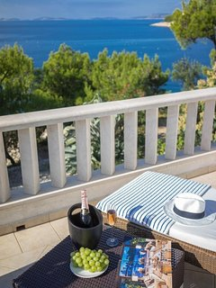 Luxury Villa Primosten Oasis with pool by the sea at beach close to Primosten -