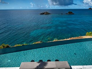 St Barts Sparkling Luxury Ocean View Villa with Pool in Gustavia