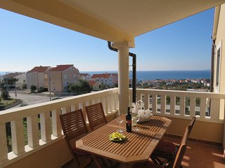Apartment Diana for 4 with excelent sea view, Novalja
