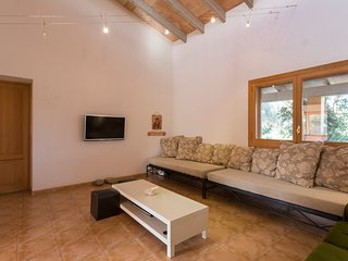 living room with lcd tv