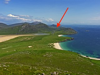 Kilda House 4*, South Harris, white beaches 1 mile,Sea Loch Views,  2-6/7 p. ,