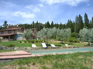 Villa Valle, pool & basketball court, San Polo in Chianti