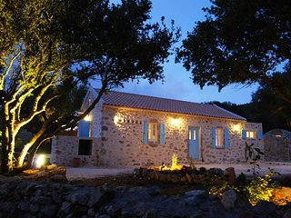 Restored Stone Villa with sea views and organic garden near Fiscardo.