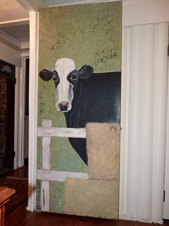The Hand-Painted Door in Bedroom #3