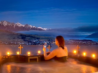 indulge in your own private hot tub at Bel Lago
