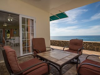 3 Bedroom Budget Oceanfront Rincon Villa-Villa 2 Lower at Sunset Paradise Villas