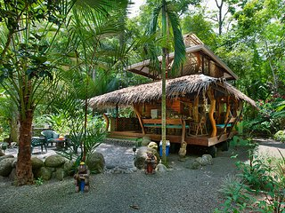 The Dream Palm House of Congo Bongo EcoVillage Costa Rica.