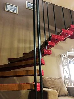 Stairs for upper level