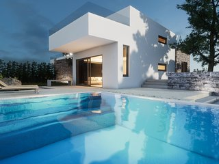 Brand-new luxury villa, just 200m away from the beach of Agia Marina, Chania