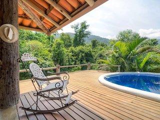Suite com piscina nas montanhas de Ilhabela