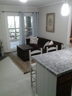 Downstairs - living area with bar, fireplace and walk-out