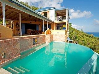 Tortola Villa, Spectacular Ocean and Sunset Views, Belmont