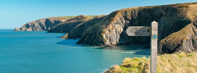 Pembrokeshire coastal path. Miles of amazing scenic walking