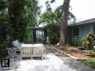 Lanai & patio ouest, vue de l'eau, 100 yr vieux arbres indigènes, banc de bois, se déplacent chaises / lounges pour convenir U