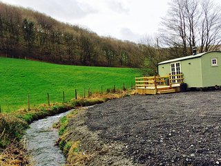 New for 2017 Luxury Shepherd's Hut, Machynlleth