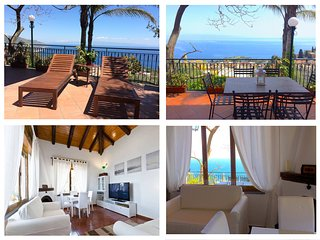 TAORMINA CASA LILI with Sea View Terrace Garden + BBQ Taormina
