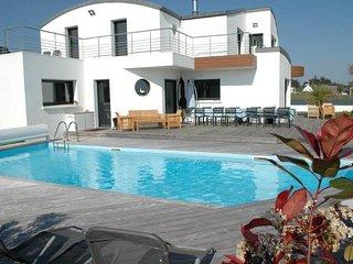 Villa avec piscine et spa bord de mer pour 12 personnes, 210m2