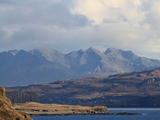 Cuillin hills from house