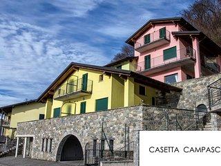 Casetta (PISTACCHIO) con stupenda vista lago, zona tranquilla e soleggiata....