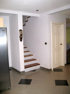 2 story Tamarindo vacation house with 2 bedrooms upstairs each with it's own bathroom & A/C, closet